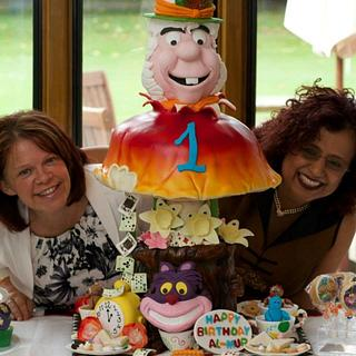 first birthday cake for the prince of Dubai - mad hatter's tea party