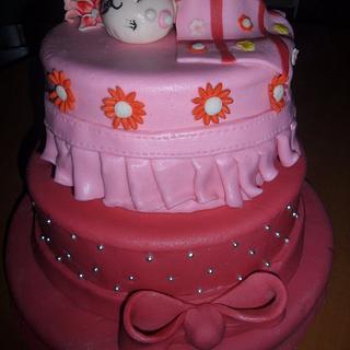 sleepy baby cake