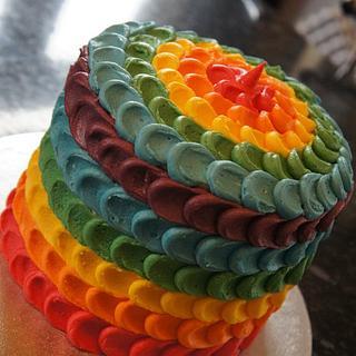 My first rainbow cake