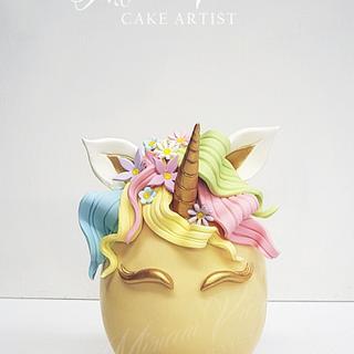 Easter egg unicorn theme