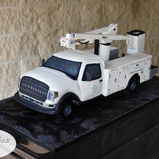 Bucket Truck Cake
