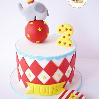 Circus Elephant Cake ^^