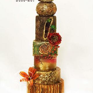 Wedding Cake Design by Purbaja B Chakraborty: Theme: Fusion