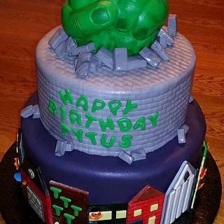 Incredible Hulk themed Birthday cake - Cake by Tammi