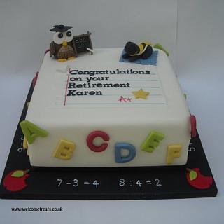 Teacher Happy Retirement Cake!