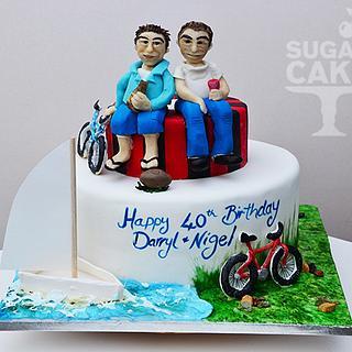 modelling choc figures on cake