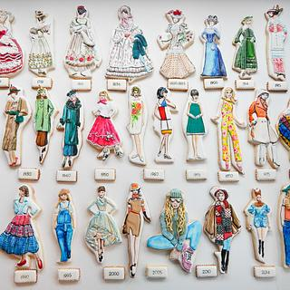 History of Fashion Cookies - Cake by Kim Coleman (Sugar Rush Custom Cookies)