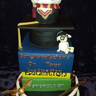 Harry Potter Graduation Cake