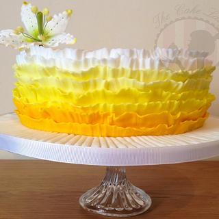 Yellow Ombre Ruffle Cake