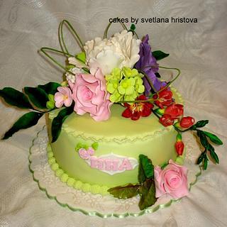 Gumpaste flowers - Cake by Svetlana Hristova