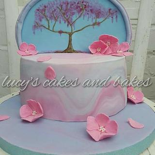 Cherry blossom cake.  - Cake by Lucy