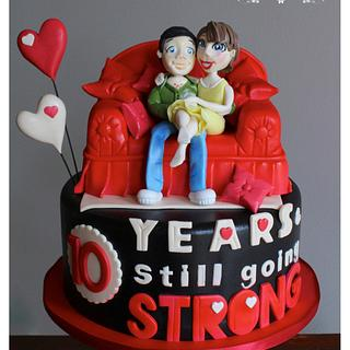 10th Anniversary - Cake by RED POLKA DOT DESIGNS (was GMSSC)