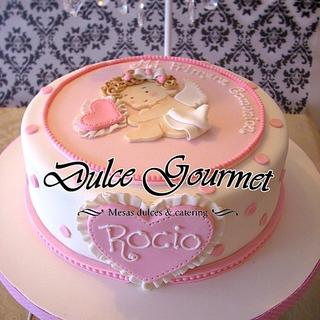 ROMANTIC CHIC COMUNION CAKE
