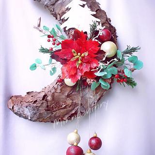 Hanging Wreath Cake