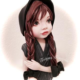 my new doll from sugar paste...