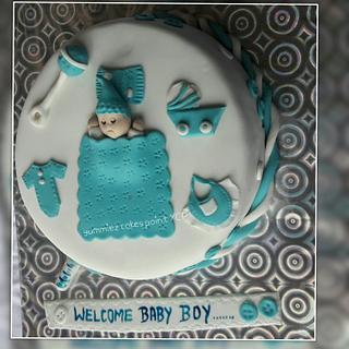 Welcum baby boy - Cake by yummiezcakespoint