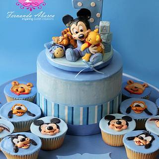 Mickey's First Birthday Cake
