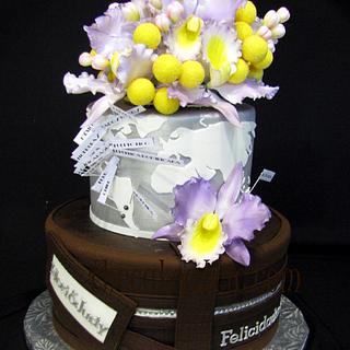 travel anniversary cake