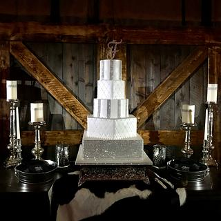 Country Glam Wedding Cake