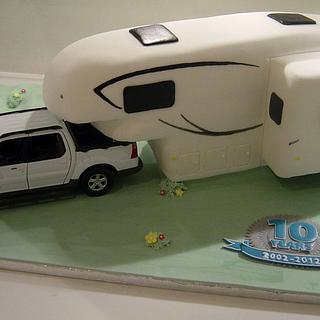 A large camper van!