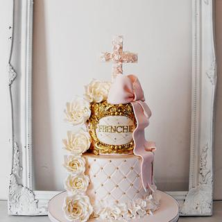 Frenchie's Christening - Cake by Dee