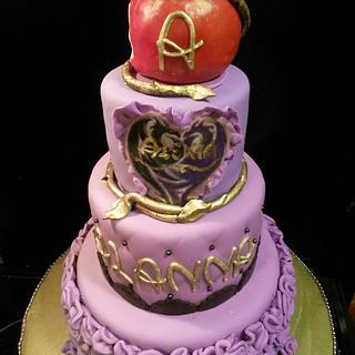 Descandants inspired cake
