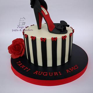 Shoes woman cake