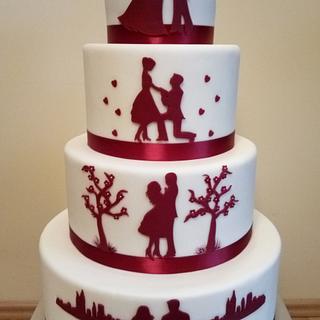 Wedding cake - Cake by Gabriela Doroghy