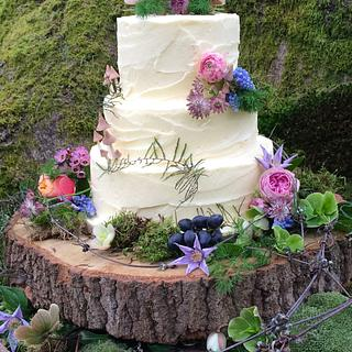 Pixie Boho wedding cake