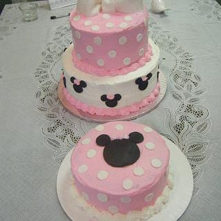Minnie Mouse Birthday Cake and smash cake
