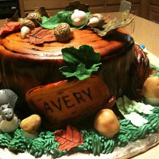 Tree Stumps for a Baby Shower