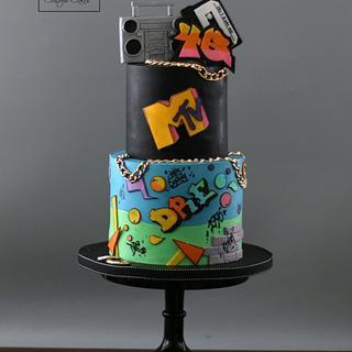 Retro cake  - Cake by Lori Mahoney (Lori's Custom Cakes)