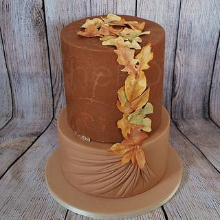 Golden Fall Cake - Cake by KuchenDiva