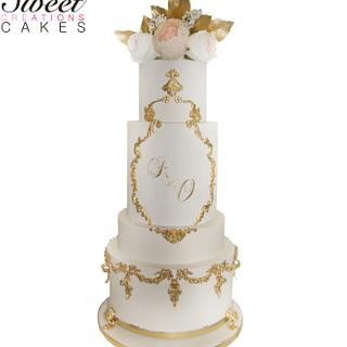 Royal gold wedding cake - Cake by Sweet Creations Cakes