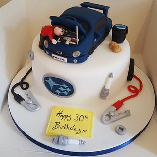 Subaru cake  - Cake by Kirsty