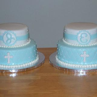 Quilted First Communion Cakes