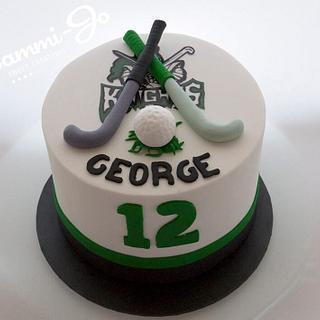 Field hockey cake