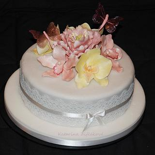 orchid and gelatine butterflies