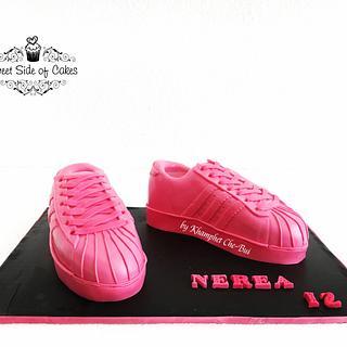 Pink Adidas Original Superstar Sneaker