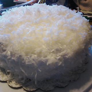 Coconut Cake 1st homemade June 2013