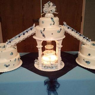 Old School Wedding - Cake by Danielle Carroll