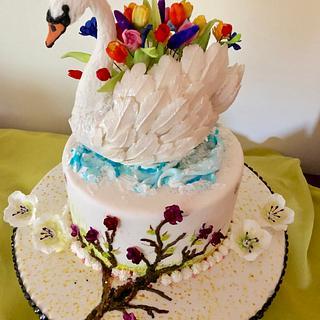 Swan  - Cake by MayChinchilla
