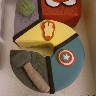 Superheroes 5 cake