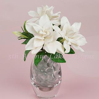 Flower Paste Gardenias the Perfect Flower for a Wedding cake