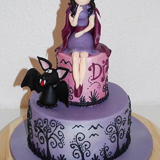 Vampire Girl Birthday Cake