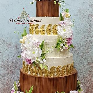 Rustic Country Look Wedding Cake