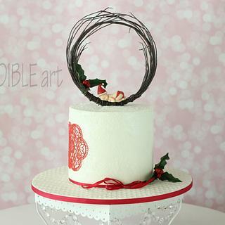 Baptism Cake- Christmas theme