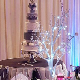 Winter wonderland wedding - Cake by Amelia Rose Cake Studio