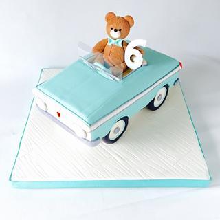 Teddy Bear and toy car cake