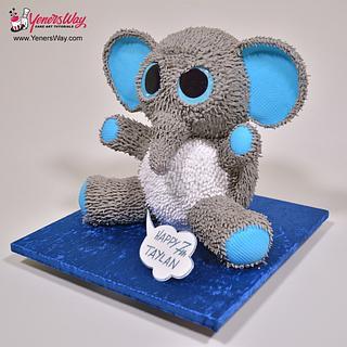 3D Toy Elephant Cake - Cake by Serdar Yener | Yeners Way - Cake Art Tutorials